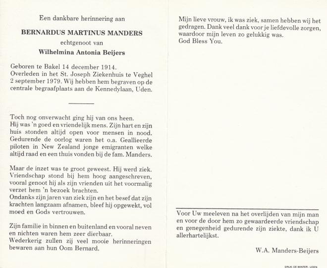 Echtpaar manders  beijers - manders-bernardus-m-14-12-1914-02-09-1979-1