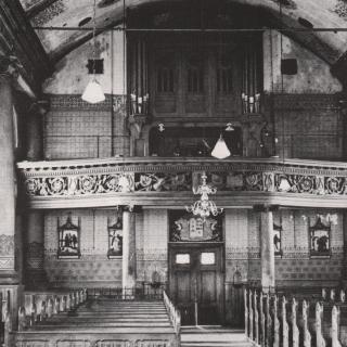 018-Interieur van de kerk in Milheeze van voor de verbouwing van 1964.