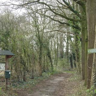 """028-Vogelkijkpad """"De Mirre"""" is gelegen aan het Geneneind in Bakel. Het pad biedt een prachtig uitzicht op de bolle akkers aan de noordzijde van het dorp."""